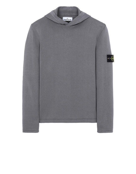 STONE ISLAND 516B3 Sweater Man Blue Grey