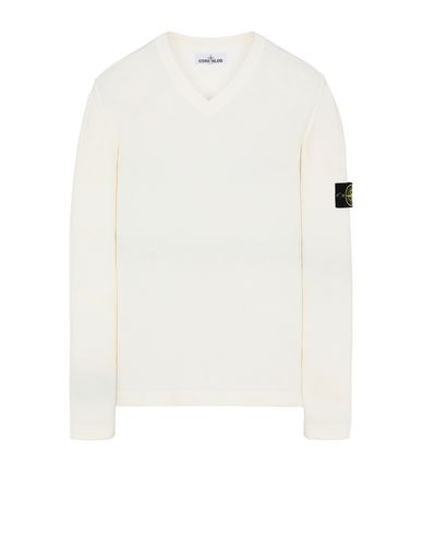 STONE ISLAND 503B9 Sweater Man Ivory USD 298