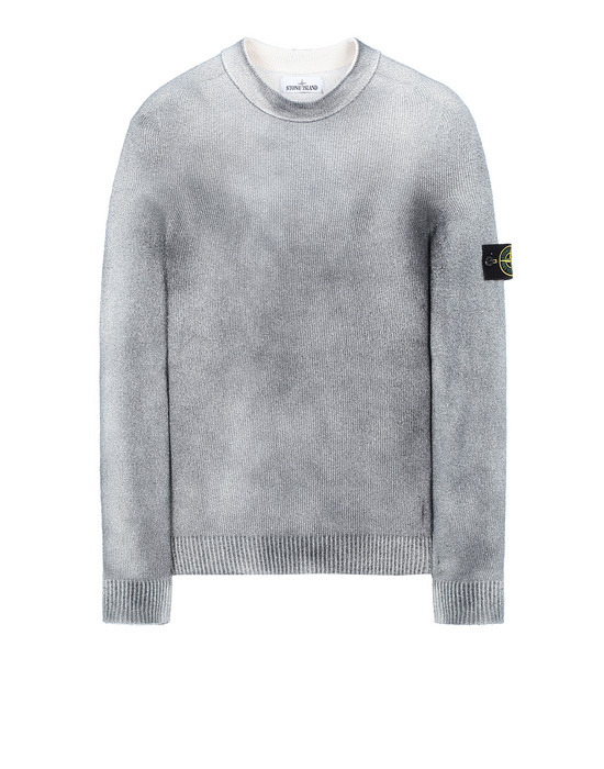 Long sleeve jumper Man 543B7 HAND SPRAYED TREATMENT Front STONE ISLAND