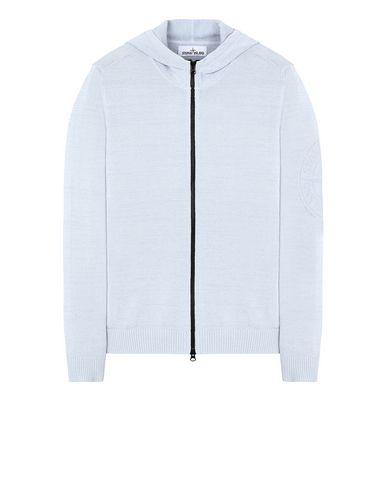 STONE ISLAND 556D7 Sweater Man Sky Blue EUR 390