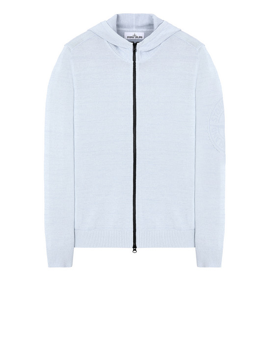 STONE ISLAND 556D7 Sweater Man Sky Blue