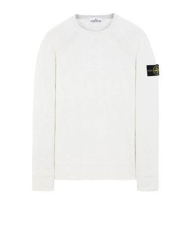 STONE ISLAND 521B5 REVERSIBLE KNIT Sweater Man Ivory EUR 335