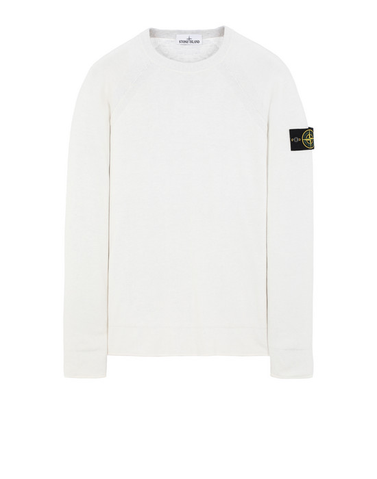 STONE ISLAND 521B5 REVERSIBLE KNIT Sweater Man Ivory
