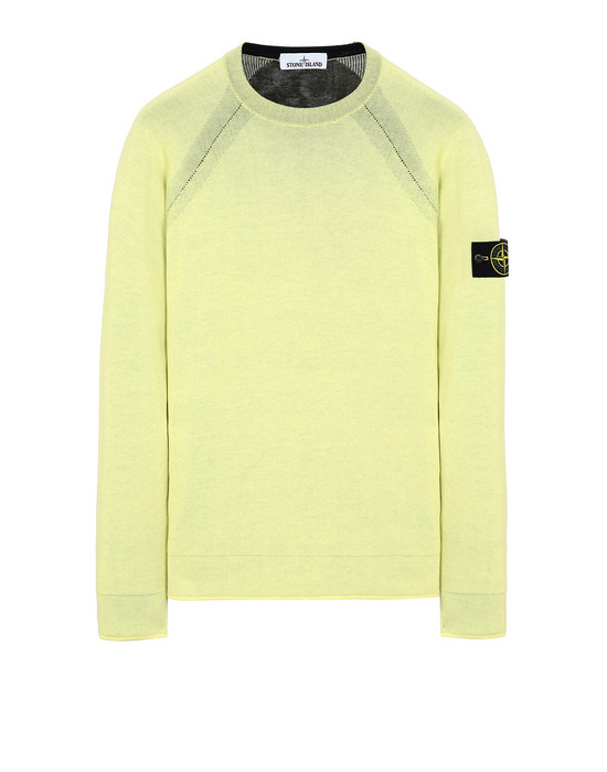 STONE ISLAND 521B5 REVERSIBLE KNIT Sweater Man Lemon