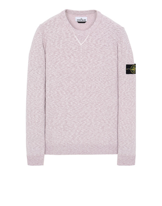 STONE ISLAND 531B0 Sweater Man Pink Quartz