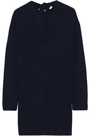 VALENTINO Tie-back ribbed cashmere sweater