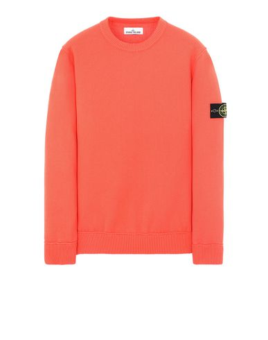 STONE ISLAND 536B1 Sweater Man Lobster Red EUR 343