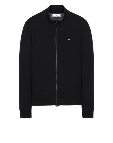 STONE ISLAND 540D3 Cardigan Man Black USD 206