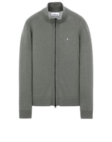 STONE ISLAND 540D3 Cardigan Homme Vert olive EUR 297
