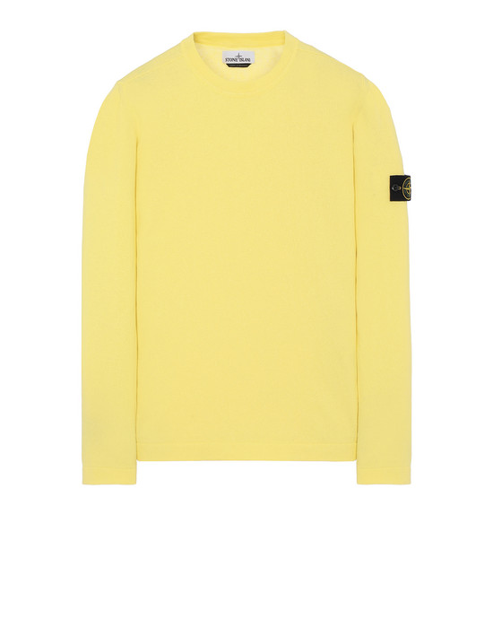 STONE ISLAND 532B9 Sweater Man Lemon