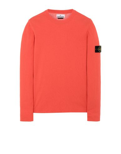 STONE ISLAND 532B9 Sweater Man Lobster Red EUR 225
