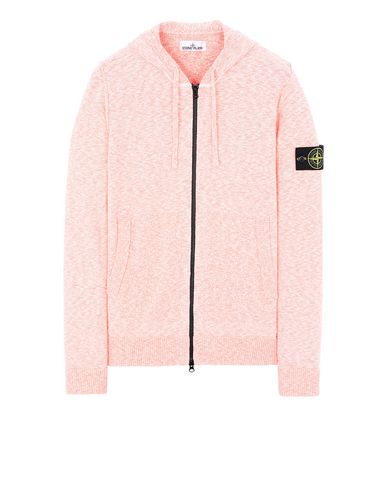 STONE ISLAND 530B0 Sweater Man Lobster Red EUR 335