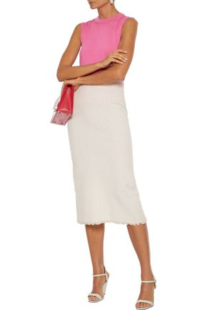 Carolina Herrera Tops CAROLINA HERRERA WOMAN CASHMERE AND SILK-BLEND TOP PINK