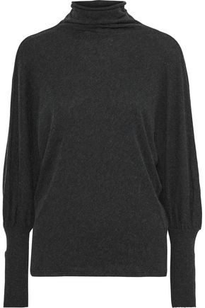 ENZA COSTA Brushed cotton and cashmere-blend turtleneck top