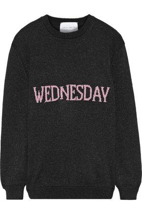 ALBERTA FERRETTI Metallic intarsia-knit sweater