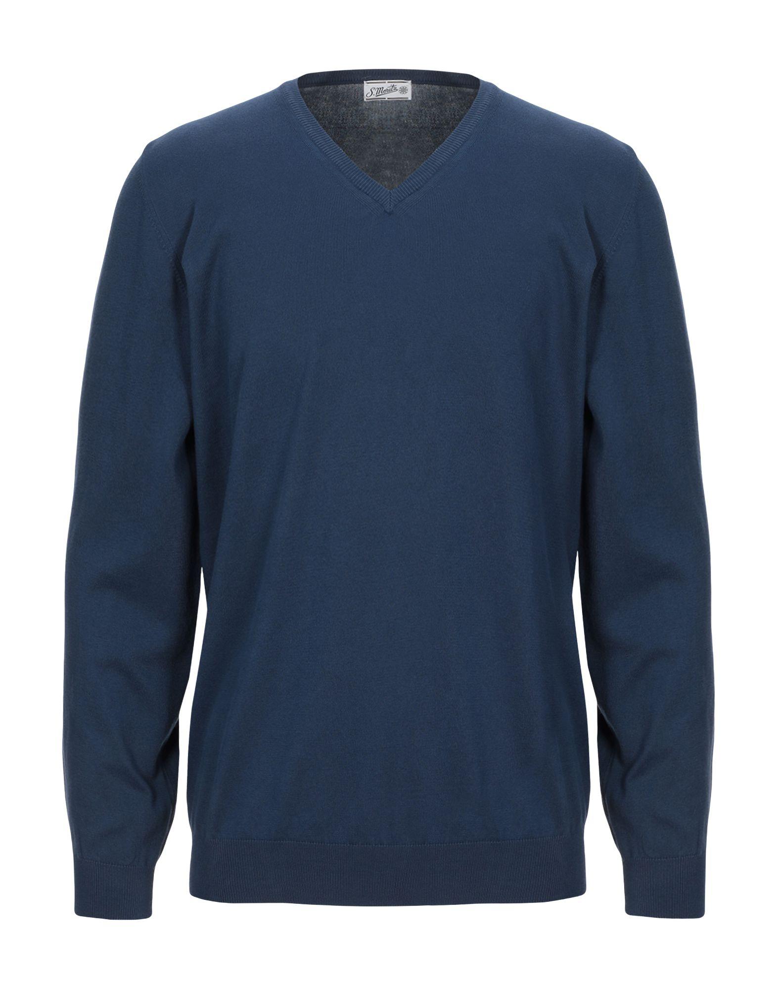 《セール開催中》S. MORITZ メンズ プルオーバー ブルー 56 コットン 100%