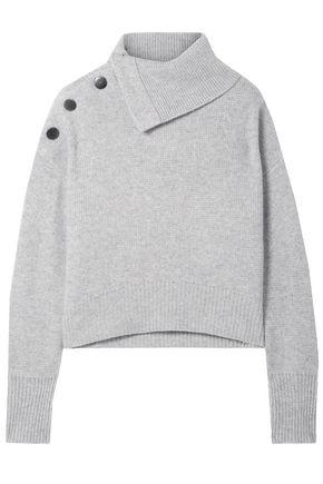 LE KASHA Etretate snap-detailed cashmere turtleneck sweater