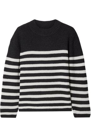 LE KASHA St Malow striped ribbed cashmere sweater
