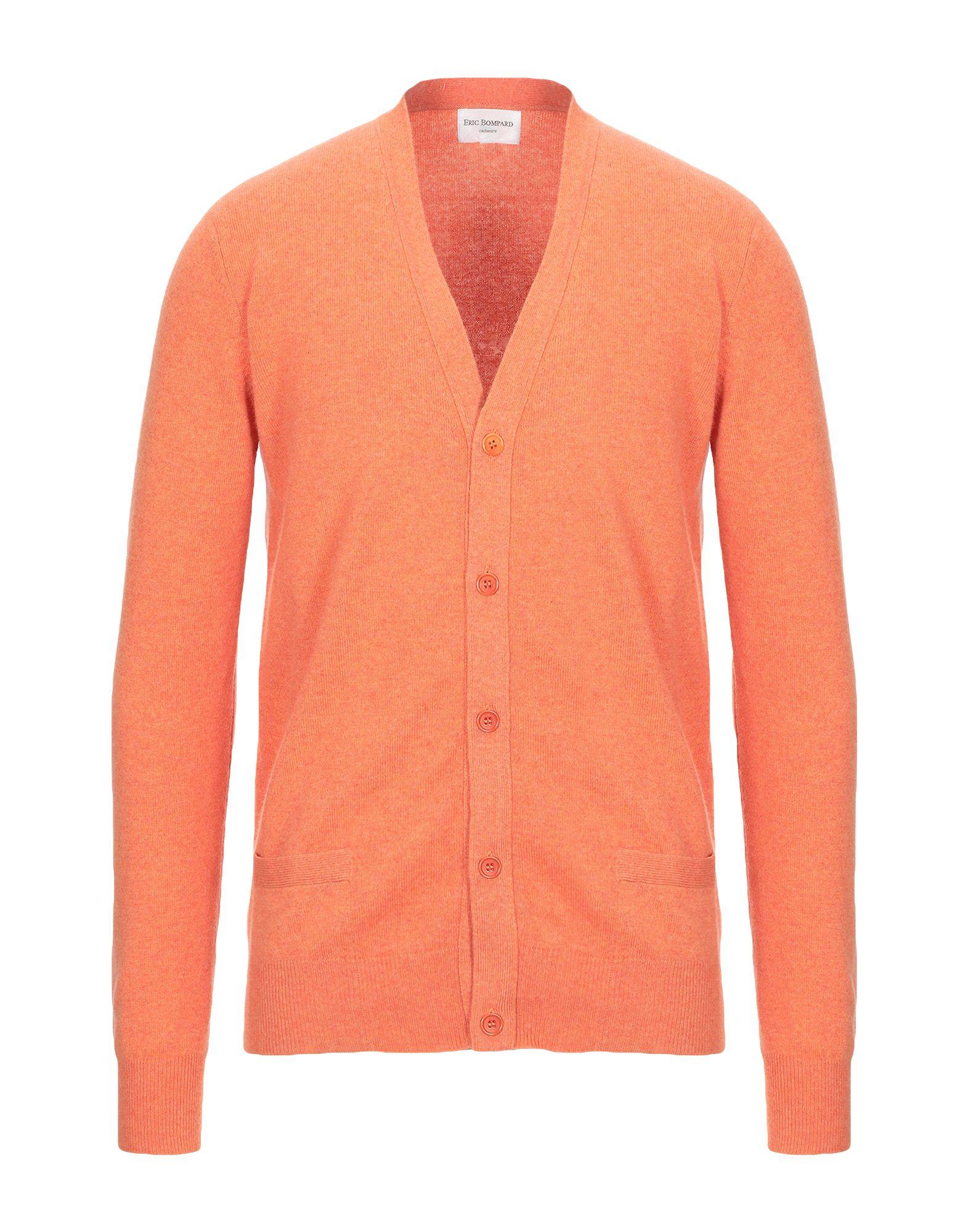 《セール開催中》ERIC BOMPARD Cachemire メンズ カーディガン オレンジ S カシミヤ 100%
