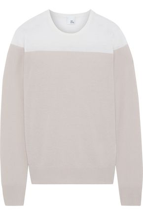 IRIS & INK Phlox two-tone merino wool sweater