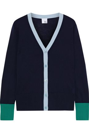 IRIS & INK Muilla color-block merino wool cardigan