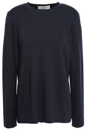 VALENTINO Cashmere and silk-blend sweater