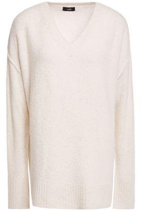 LINE Brushed merino wool-blend sweater