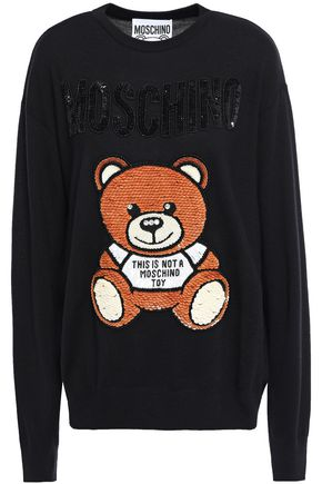 MOSCHINO Embellished wool sweater