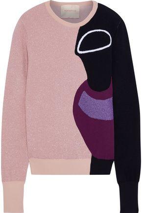 ROKSANDA Darla metallic intarsia-knit sweater