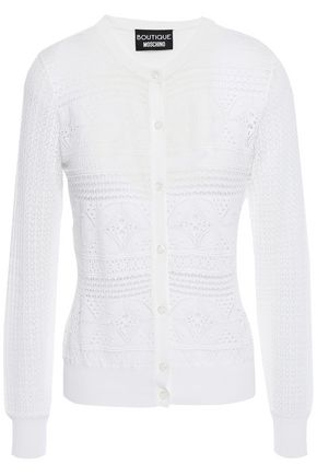BOUTIQUE MOSCHINO Pointelle-knit cardigan