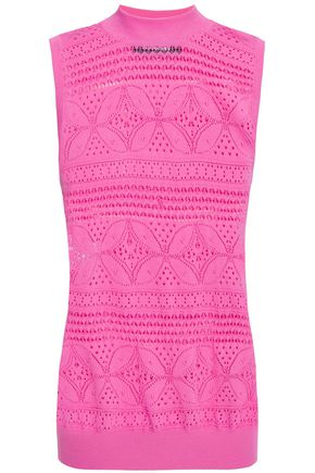 BOUTIQUE MOSCHINO Pointelle-knit top