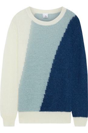 IRIS & INK Caltha color-block mohair-blend sweater