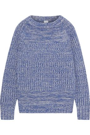 IRIS & INK Terra marled ribbed wool-blend sweater