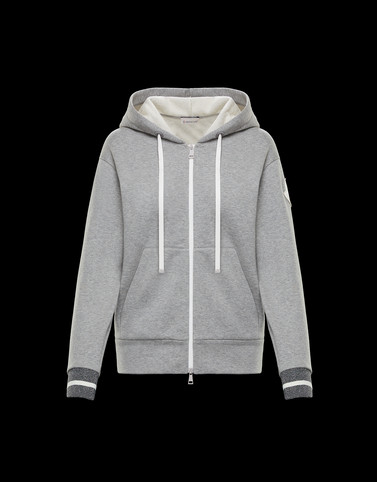 CARDIGAN Grey Category ZIP-UP SWEATSHIRTS Woman