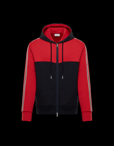 CARDIGAN Red Category ZIP-UP SWEATSHIRTS Man