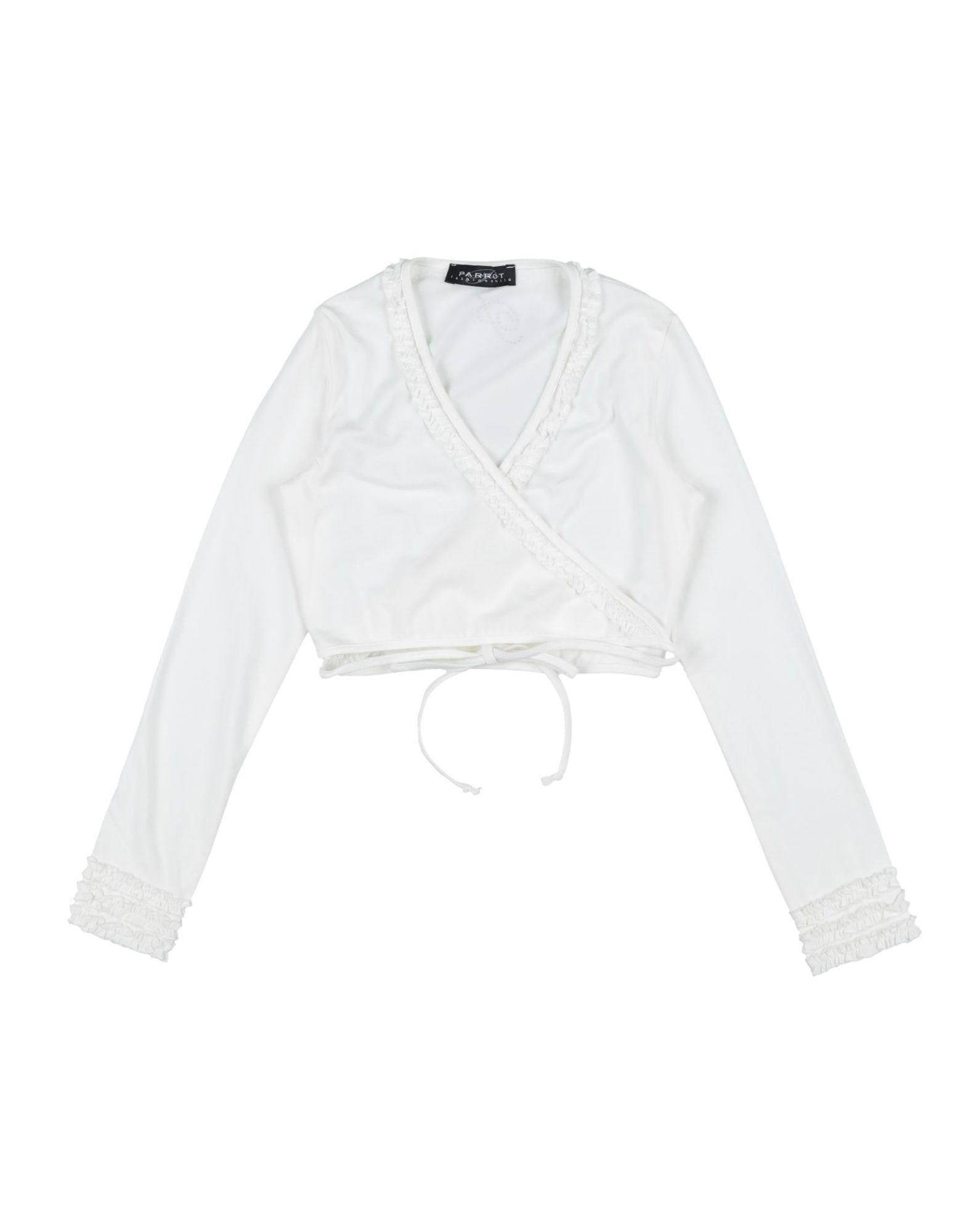 Parrot Kids' Wrap Cardigans In White