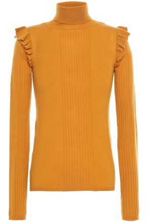 byTIMO Ruffle-trimmed wool turtleneck sweater