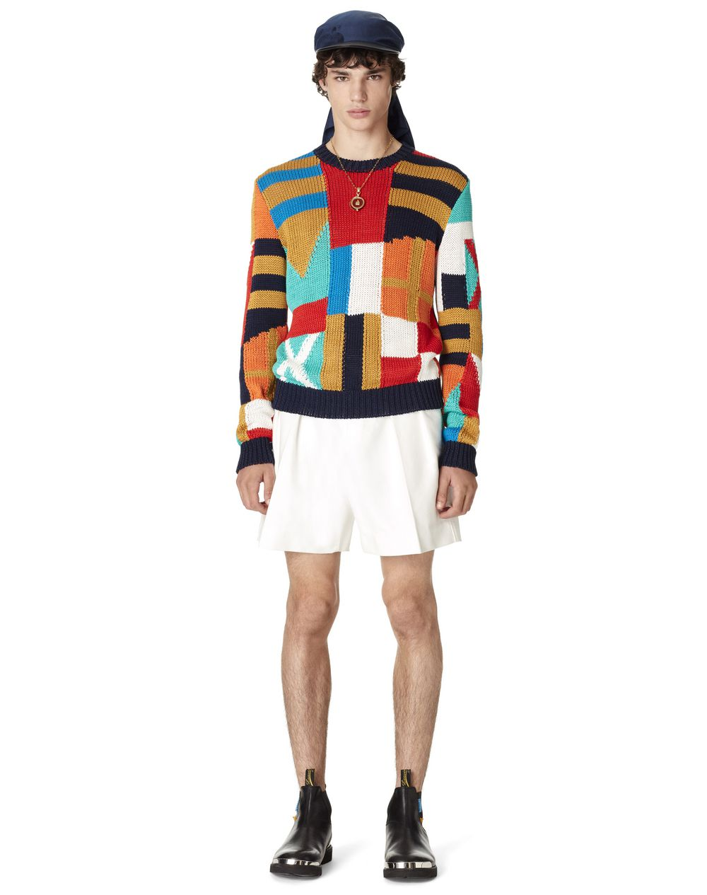 LARGE FLAG-PATCHED JUMPER  - Lanvin