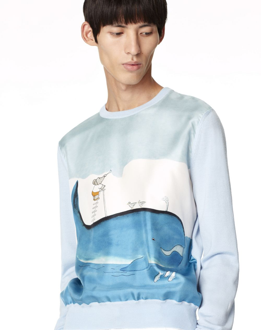 PRINTED WOOL AND SILK JUMPER - Lanvin