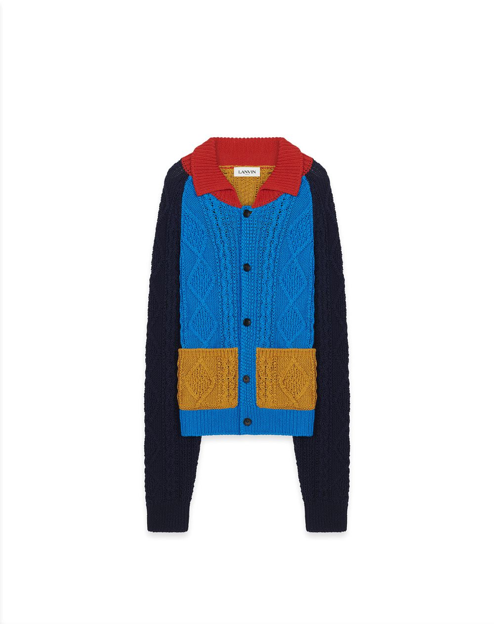 COTTON CABLE-KNIT CARDIGAN - Lanvin