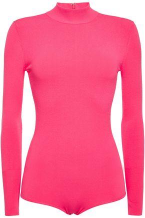 HERVÉ LÉGER Neon stretch-jersey bodysuit