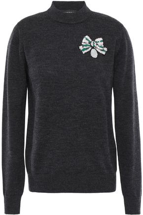MARKUS LUPFER Mia sequin-embellished merino wool sweater