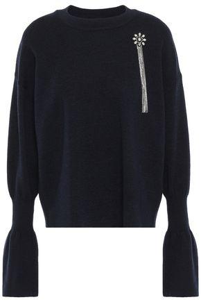 MARKUS LUPFER Nina crystal-embellished merino wool sweater