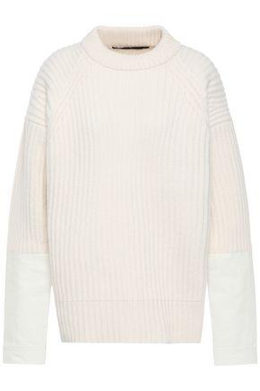HAIDER ACKERMANN Canvas-paneled ribbed wool sweater