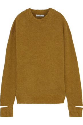 TIBI Cutout alpaca-blend sweater