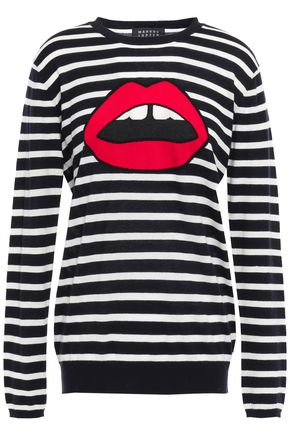 MARKUS LUPFER Natalie striped intarsia cotton sweater