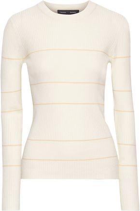 PROENZA SCHOULER Striped ribbed silk-blend sweater