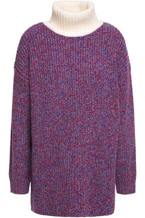 TIBI Mélange ribbed merino wool turtleneck sweater