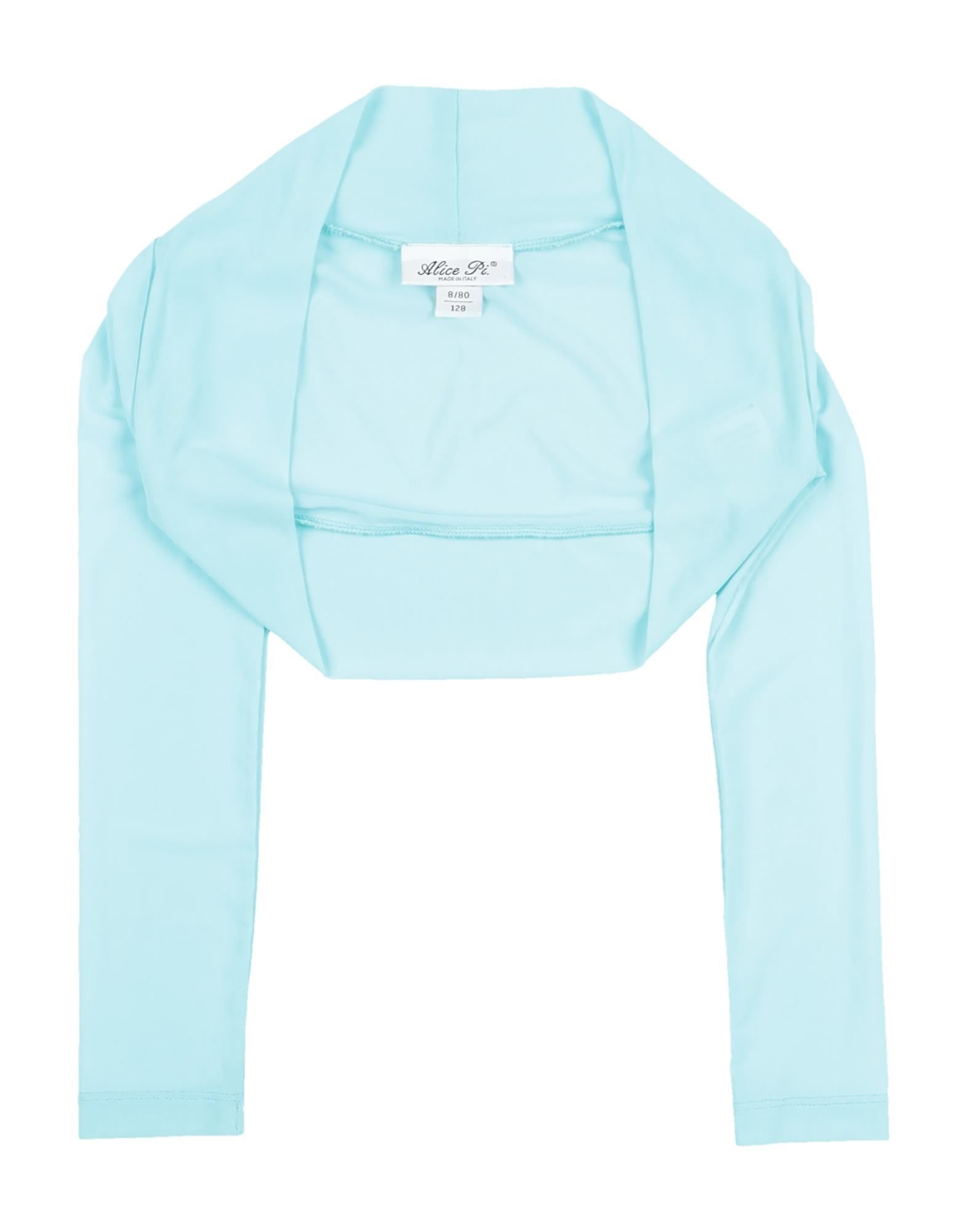 Alice Pi. Kids' Wrap Cardigans In Turquoise