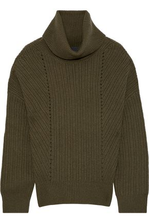NILI LOTAN Keirnan ribbed cashmere turtleneck sweater